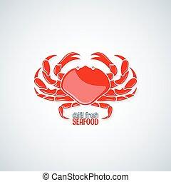 krabba, skaldjur, bakgrund, meny