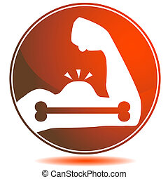 kracht, been, pictogram