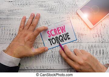 kracht, nut., zakelijk, schrijvende , strengeling, woord, maatregel, concept, noodzakelijk, schroef, tekst, spinnen, torque.