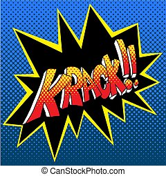 Krack Comic Book Sound Effect Word