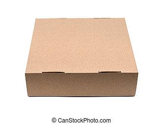 kraft box on a white background