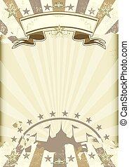 kraft paper circus sunbeams poster