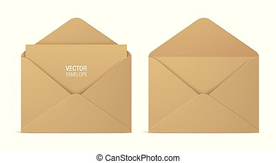 kraft papier, fond, isolé, enveloppes