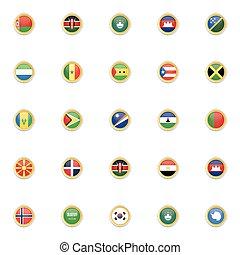 kraj, bandery, szczególny