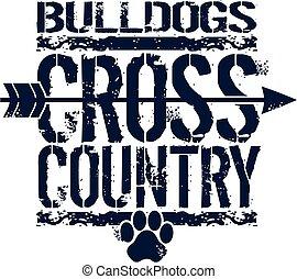 kraj, krzyż, buldogi