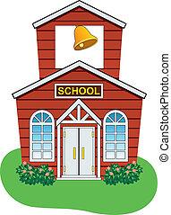 kraj, szkoła, wektor, dom