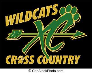 kraj, wildcats, krzyż