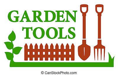 krajinomalba, ikona, s, pěstovat nástroj