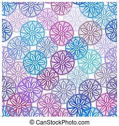 krajka, seamless, model, s, šeřík, karafiát, nach, oplzlý květovat, oproti neposkvrněný, grafické pozadí., pastel barva, abstraktní, art., vektor