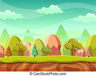 krajobraz, natura, tło, kaprys, las