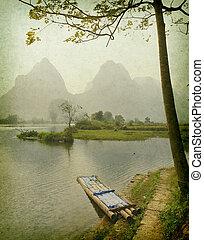 krajobraz, porcelana, guilin, yangshuo