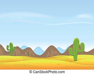 krajobraz, pustynia, tło