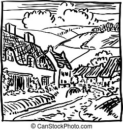 krajobraz, wieś