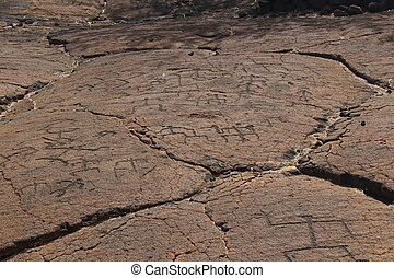krajowiec, hawajczyk, petroglify