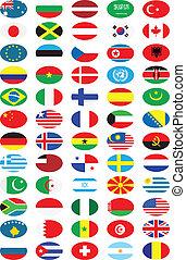 krajowy, bandery, zbiór
