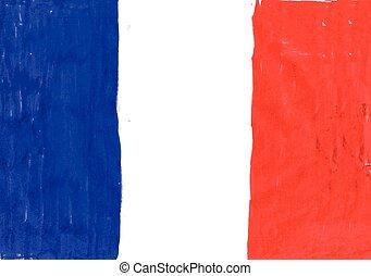 krajowy, wektor, bandera, francja