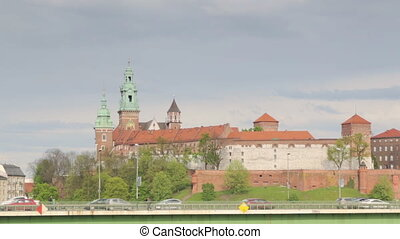 Krakow cityscape with Wawel royal castle, Poland - Krakow...
