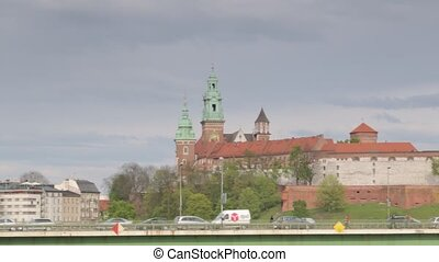 Krakow cityscape with Wawel royal castle, Poland - Krakow...