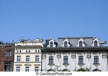 Krakow old apartment - Roofs of Krakow buildings