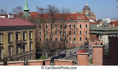 Krakow, Poland - Spring, 2018 Old Town of Krakow. - Krakow,...