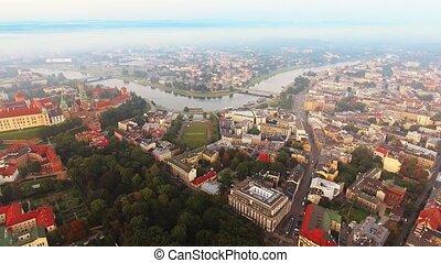 krakow, poland., wawel, königlich, hofburg, und, kathedrale,...