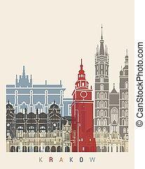 Krakow skyline poster