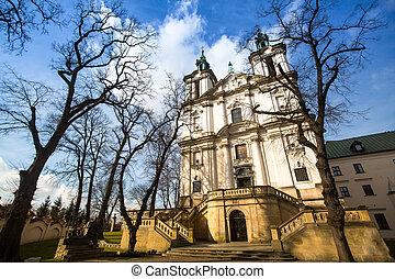 krakow, st. 。, poland., 教会, stanislaus, 司教