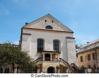 Krakow,Poland - Izaak Synagogue in Krakow in Poland