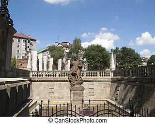 Krakow,Poland - Sculpture of St Stanislaus bishop in Krakow,