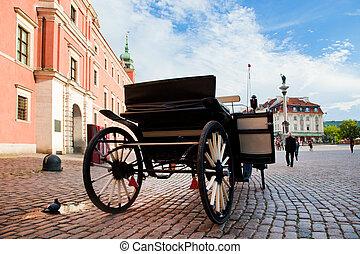 Krakowskie Przedmiescie, the old town of Warsaw, Poland. ...