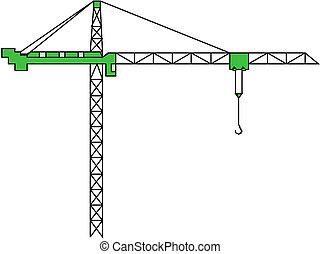 kran, bygning