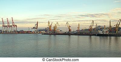 kranen, porto, containers