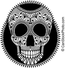 kranium, muertos), symbol, af, afdødte, sukker, los, (dia, dag