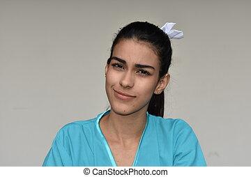 krankenschwester, leidenschaftslos, minortiy, weibliche
