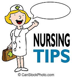 krankenschwester, mit, medizinischer satz