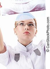 krankenschwester, röntgenaufnahme