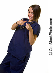 krankenschwester, zeigen