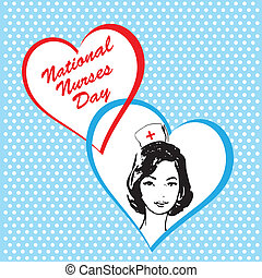 krankenschwestern, national, tag