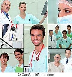 krankenschwestern, und, doktoren