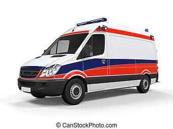 krankenwagen, freigestellt