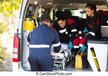 krankenwagen, mannschaft