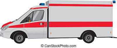 Krankenwagen von der Seite
