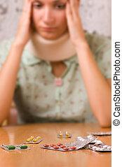 krankheit, (focus, pills)