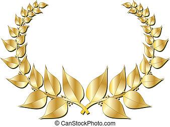 krans, goud