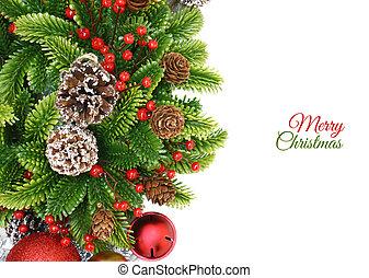 krans, kerstmis, achtergrond