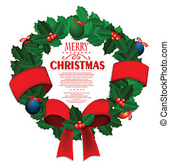 krans, kerstmis