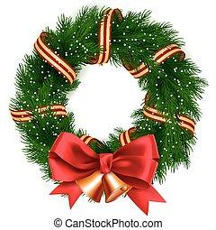 krans, kerstmis, vrijstaand