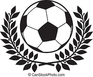 krans, lager, fotboll klumpa ihop sig