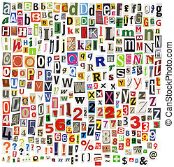 krant, alfabet