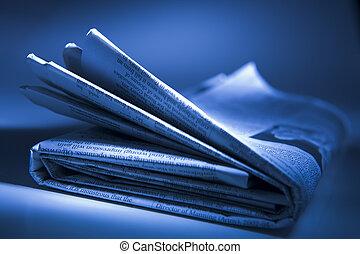 krant, ineengevouwen